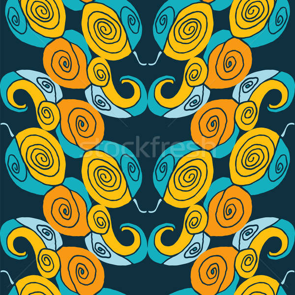 Seamless abstract symmetry pattern Stock photo © Agatalina