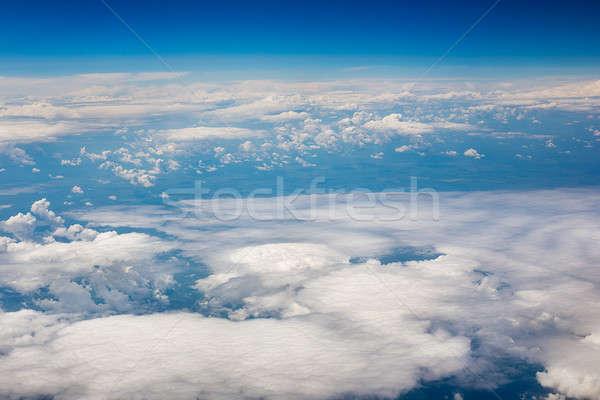 небе облака землю Top мнение плоскости Сток-фото © Agatalina