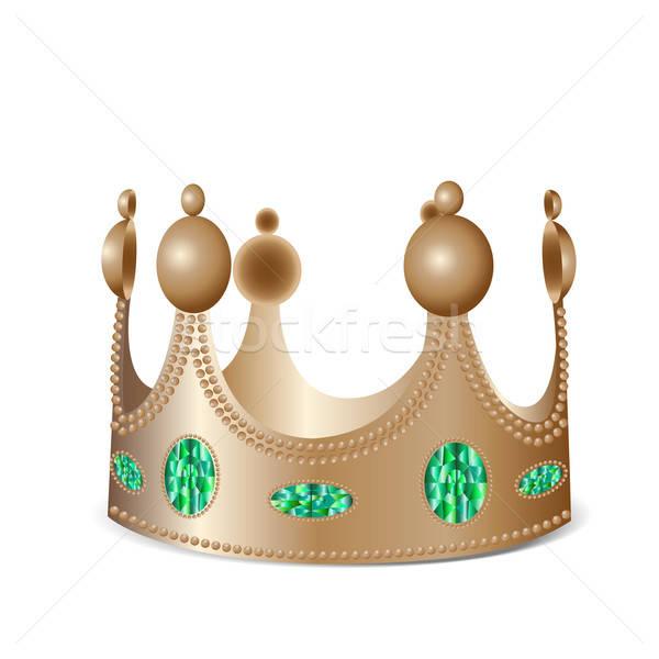 Bronze couronne isolé photo réaliste Photo stock © Agatalina