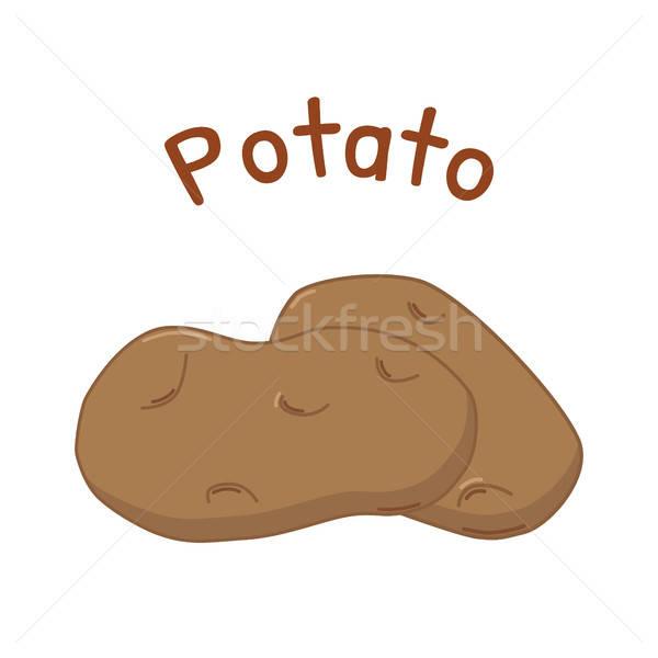 Stock photo: Isolated potato icon