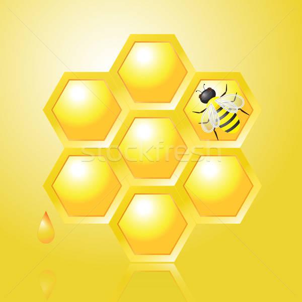 Bee желтый падение крыло Flying Сток-фото © Agatalina