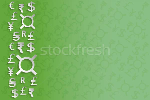 Fehér papírpénz feliratok zöld különálló elemek Stock fotó © Agatalina