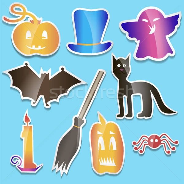 Helloween colored stickers Stock photo © Agatalina