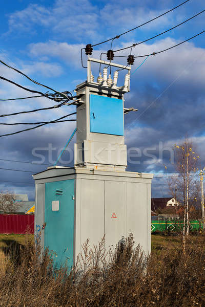 Transmission line transformer Stock photo © Agatalina
