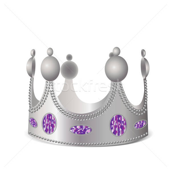 Silver crown with gems Stock photo © Agatalina