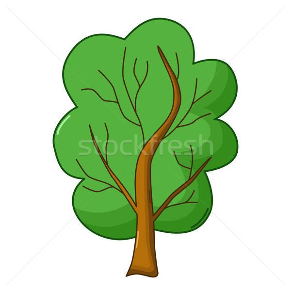 Tree icon, cartoon style Stock photo © Agatalina