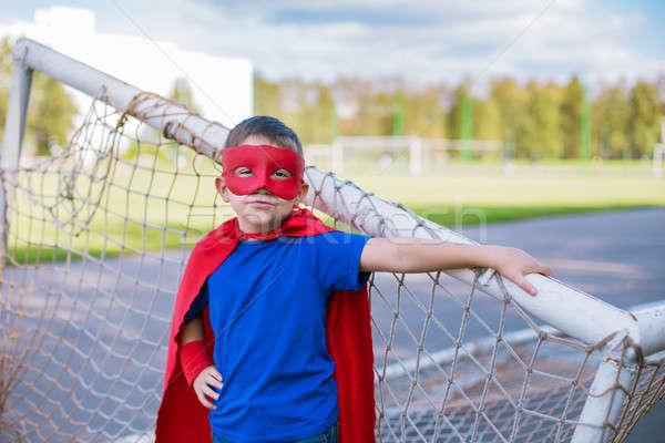 Permanent football objectif garçon masque Photo stock © Agatalina
