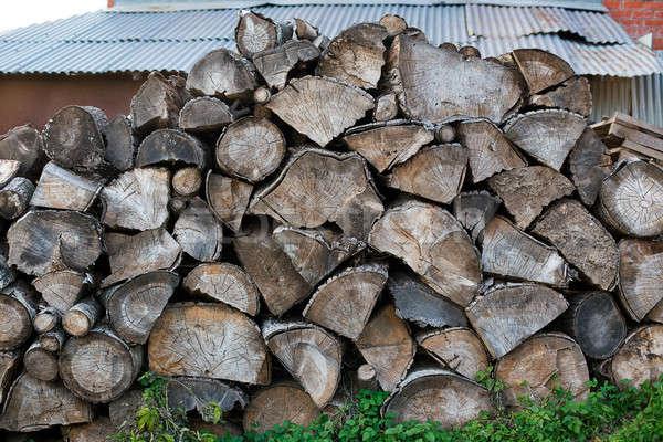 Zdjęcia stock: Ognisko · sztuk · drewno · opałowe · drzewo