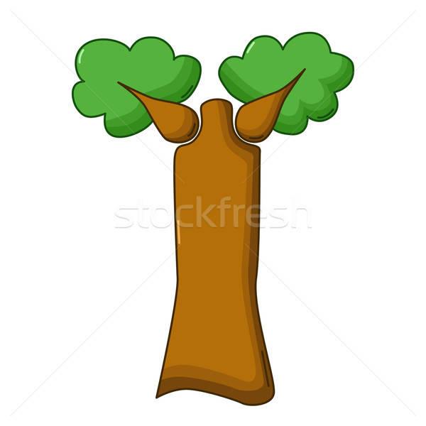 Baobab tree icon, cartoon style Stock photo © Agatalina