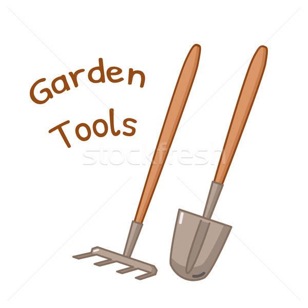 Isolated gardening tools icon Stock photo © Agatalina