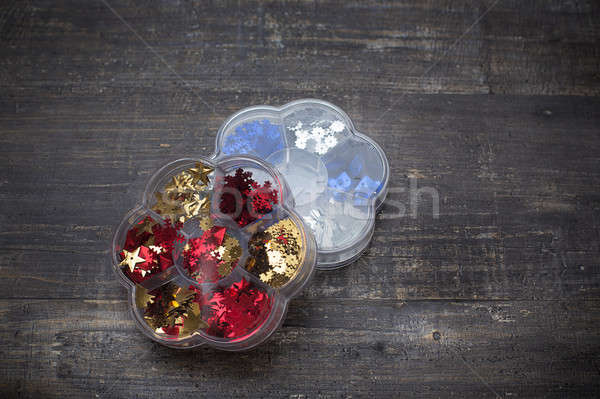 Sequins in two boxes Stock photo © Agatalina