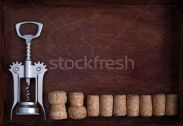 Stok fotoğraf: şarap · karanlık · kutu · içmek