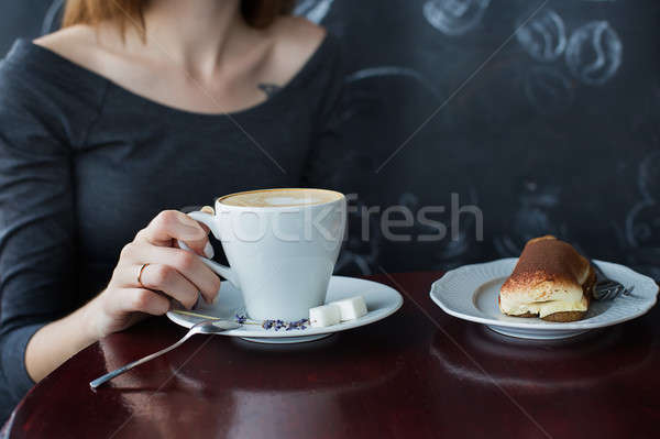 A cup of coffee in cafe Stock photo © Agatalina