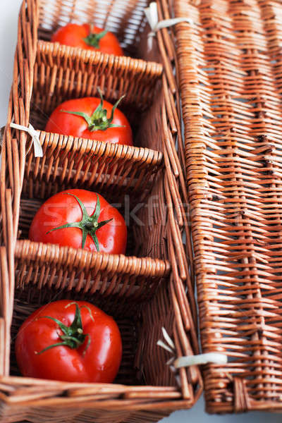 четыре помидоров плетеный окна отдельно природы Сток-фото © Agatalina