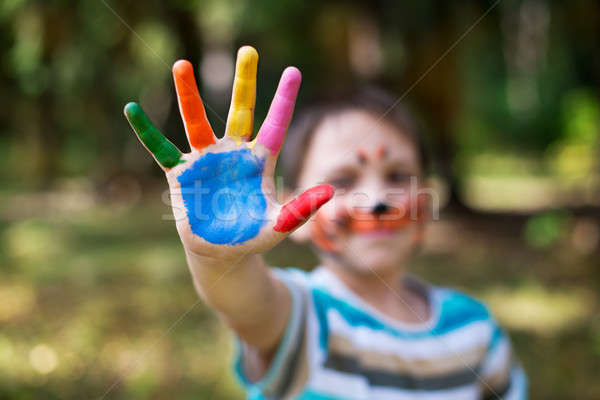 Colored human arm Stock photo © Agatalina