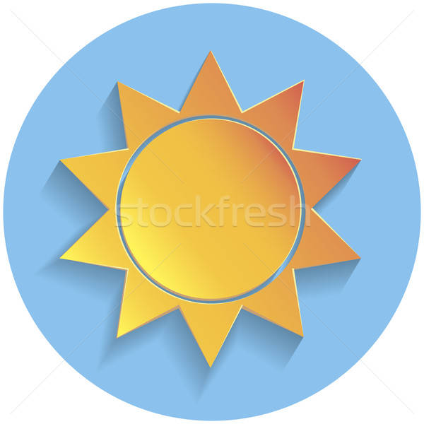 Sun icon, paper style Stock photo © Agatalina