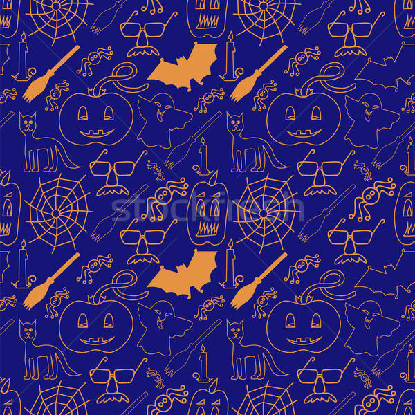 темно Хэллоуин дизайна очки синий Сток-фото © Agatalina