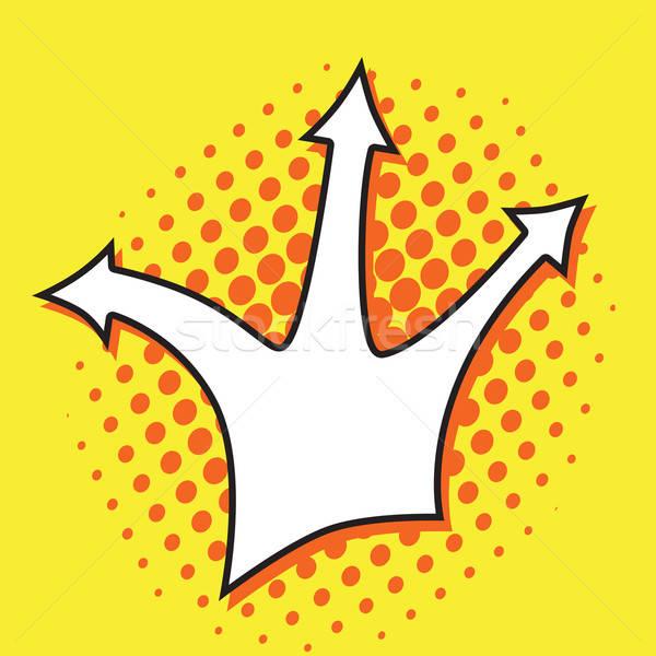 Stok fotoğraf: Pop · art · ok · sarı · dizayn · sanat · web