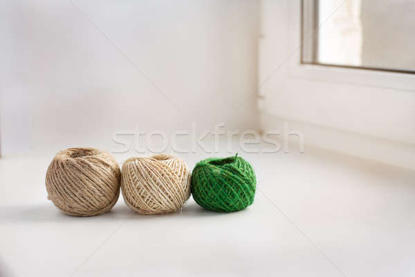 Three skeins of thread in a row Stock photo © Agatalina