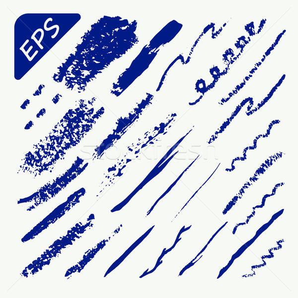 Stock photo: Brush strokes - Vector Illustration