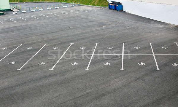 Parking niepełnosprawnych asfalt miasta ulicy biały Zdjęcia stock © Agatalina