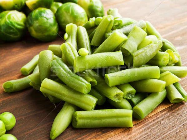 зеленая фасоль свежие мелкий группа Сток-фото © AGfoto