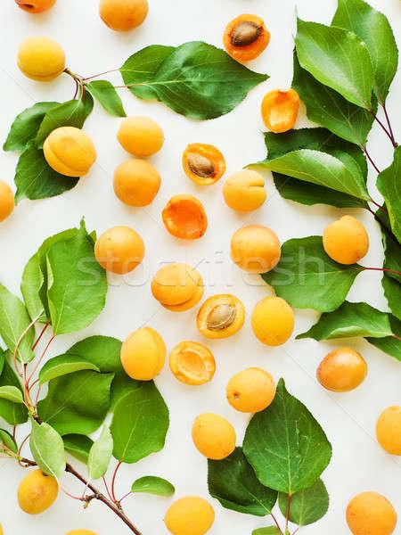 Fresh sweet apricots Stock photo © AGfoto