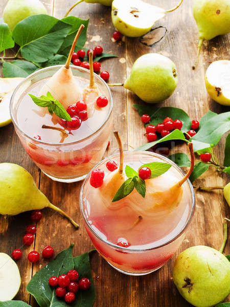 Sweet pear compote Stock photo © AGfoto