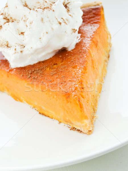 Pumpkin pie Stock photo © AGfoto
