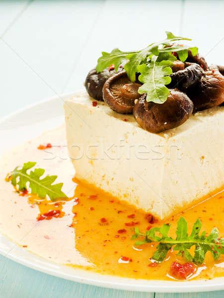Tofu with shiitake Stock photo © AGfoto