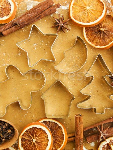 Natal bolinhos temperos nozes homem Foto stock © AGfoto
