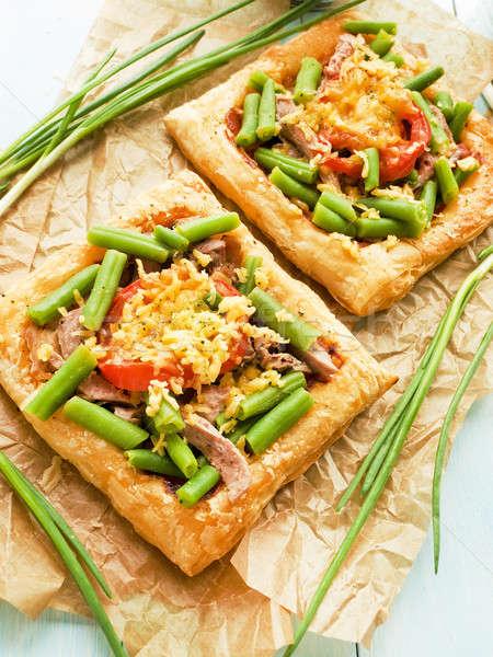 Puff pizzas Stock photo © AGfoto