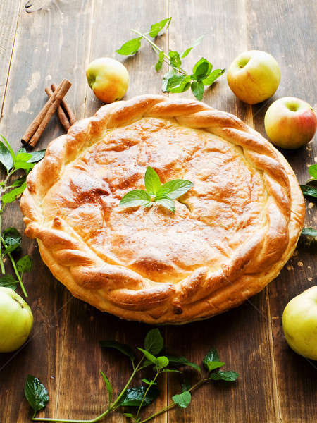 Sweet apple pie Stock photo © AGfoto