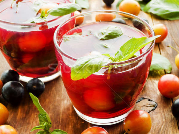 Blackthom and cherry-plum compote Stock photo © AGfoto