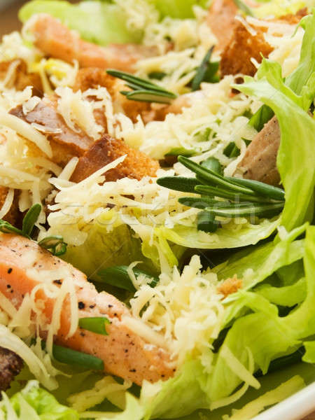 Caesar salade plaat vers ondiep voedsel Stockfoto © AGfoto