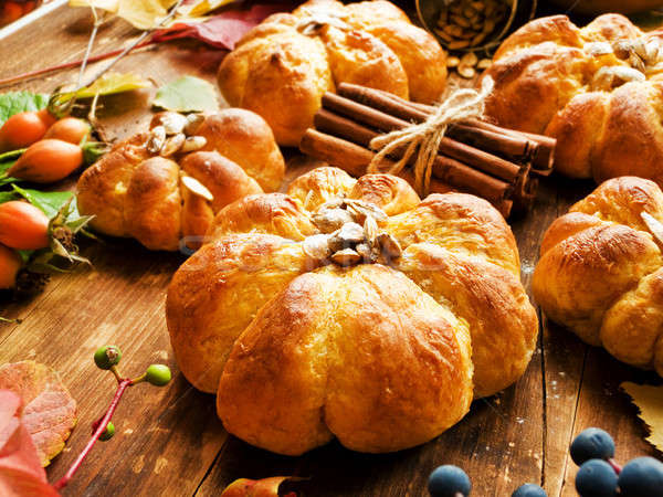 Sweet pumpkin buns Stock photo © AGfoto