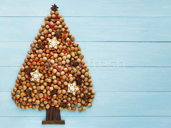 Albero di natale dadi cannella anice alimentare inverno Foto d'archivio © AGfoto