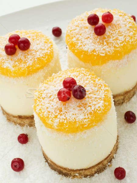 Sour cream cheesecakes Stock photo © AGfoto