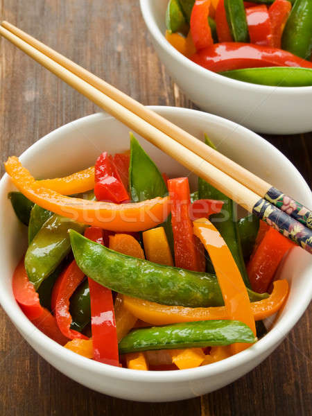 Stock photo: Vegetables stir-fry
