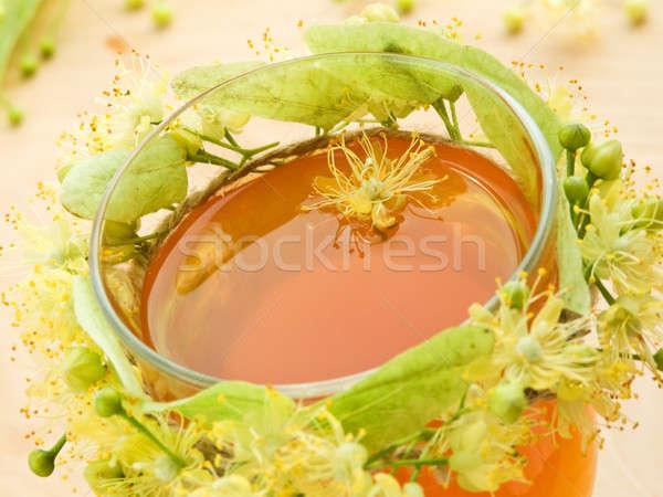 Stock fotó: Hárs · tea · üveg · citrus · díszített · koszorú