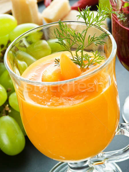Carotte smoothie verre fraîches peu profond Photo stock © AGfoto