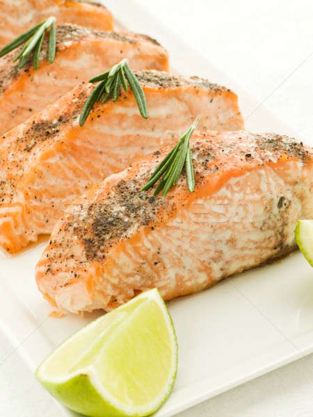Baked salmon Stock photo © AGfoto