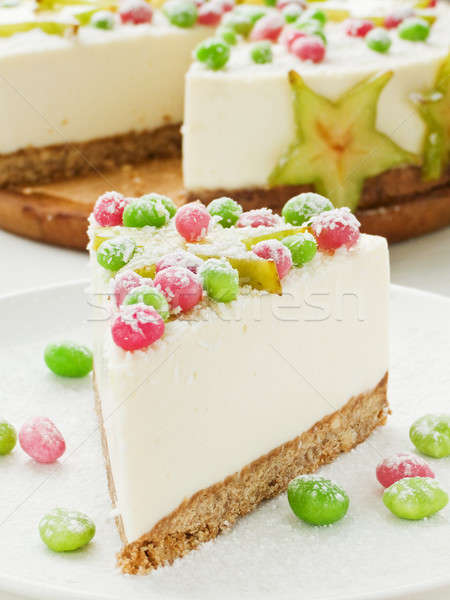 Sour cream cheesecake Stock photo © AGfoto