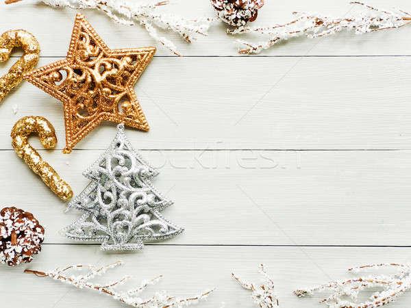 Christmas ornsments background Stock photo © AGfoto