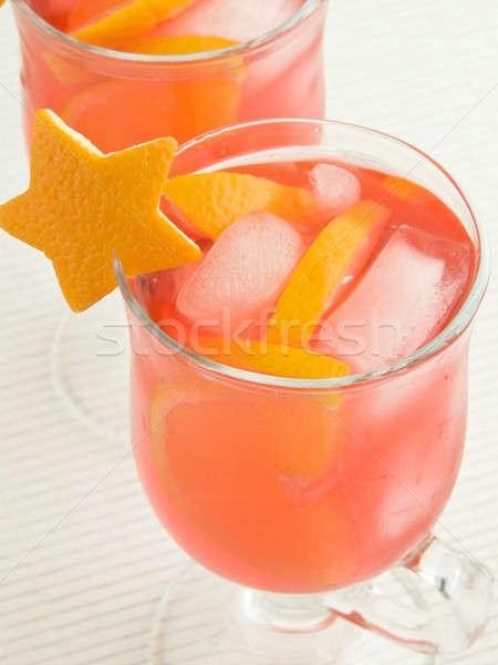 Cocktails Rood sinaasappelen ondiep water Stockfoto © AGfoto