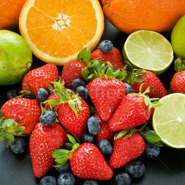 Fruits and berries Stock photo © AGfoto