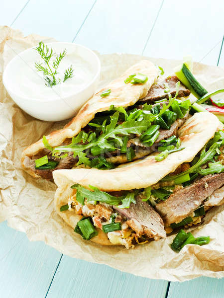 Pitas with duck Stock photo © AGfoto