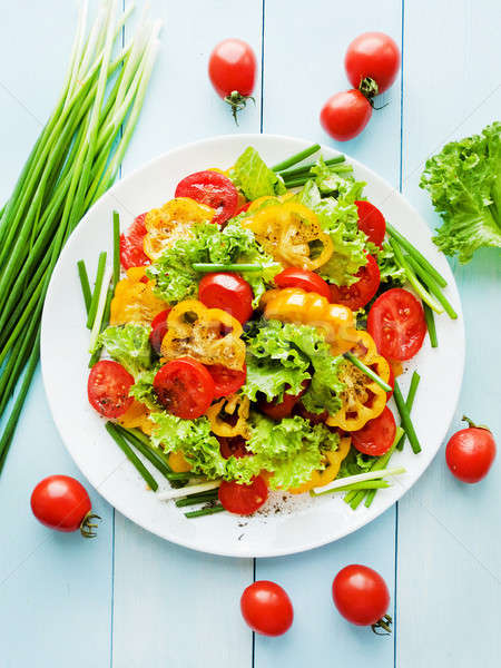 Red-yellow tomatoes salad Stock photo © AGfoto