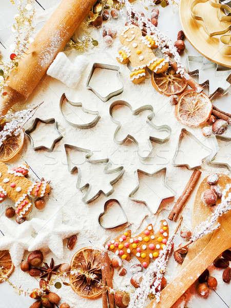 Christmas baking background Stock photo © AGfoto