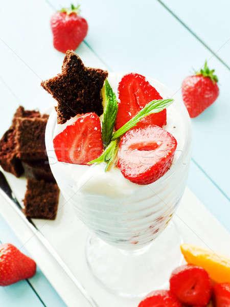 Ice cream dessert Stock photo © AGfoto